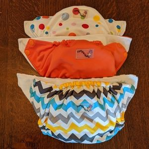 3 Rumparooz pocket-style diapers